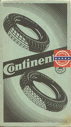 """""""ADAC Strassenkarte von Deutschland: Annaberg-Prag 40,"""" circa 1932.Back cover #wheels"""