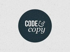 Dribbble - Code and Copy by Jessie Wyatt #simple #logo