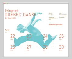 Québec Danse #grid #layout #website #web #web design
