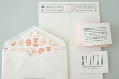 Looks like good Graphic Design by Stitch #business #letterpress #set #identity #collateral #stationery