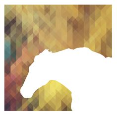 Horse Graphic. #rainbow #horse #white #negative #design #graphic #pixel #space #geometric #illustration #photography #collage