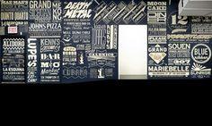 GrandArmy #lettering #restaurant #wall #handmade #lunch #typography