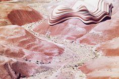 Ben Sandler #geometry #red #contrast #hills #desert