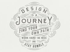 Inspiring Hand Drawn Typography Pieces by Zachary Smith #type #illustration #typography