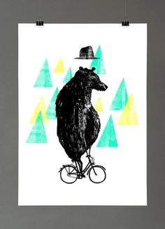 Maria Fischer · Portfolio · Illustration #fischer #illustration #maria #bike #bear