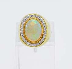 Opal-Diamant-Ring