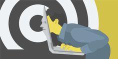 The Freelancer's Dilemma #flat #vector #laptop #illustration #mental #face