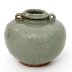 Jar with celadon glaze. Yuan dynasty (1279-1368) #porcelain