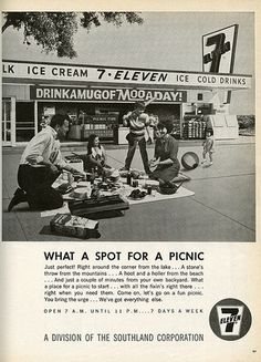 Vintage 7 Eleven Ad | Flickr - Photo Sharing! #corporate #advertisement #vintage