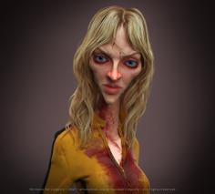 The Bride (kill bill - Uma Thurman) 3D model
