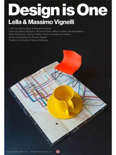 Design is One film poster by Massimo Vignelli via grain edit
