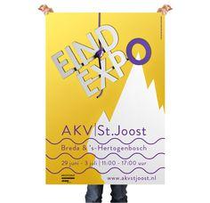 poster, AKV|stjoost, graduation show Je Favoriete Ontwerpers, www.jefavorieteontwerpers.nl