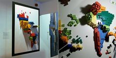 3D Infographic Maps Built with Lego - information aesthetics #information #lego #infographic #map #aesthetics