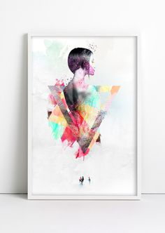 woman the great #woman #artwork #wall #poster #brush