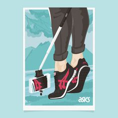 ASICS poster campaign #illustration #sneakers #asics #selfie #poster