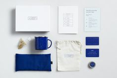 """Good Night Kit"" for Casper by High Tide NYC. #packaging #print #design #graphic #sleep #mattress #gift #night #holiday #tea #casper #blue #tide #high"