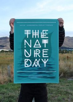 NATIVE #zealand #font #new #experimental #nature #daniel #mcqueen #poster #type #green