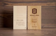 Design Work Life » cataloging inspiration daily #business card #wood #bass pro