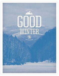 Bon Hiver Snowboarding | Neuarmy™ #bon #hiver #poster #typography
