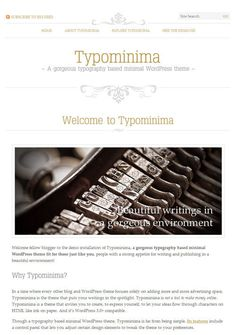 20 Free Stylist Typographic Wordpress Themes #wordpress #theme #typography
