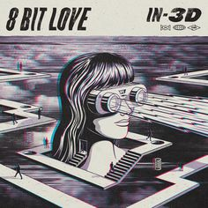 8 BIT LOVE - IN 3D  Artwork, logo and launch collateral for 8 Bit Love's 2nd EP entitled IN-3D. True to it's namesake the artwork was create