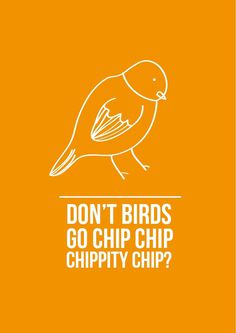 Zoom Photo #chip #orange #bebas #bird #birds #poster #cute #type