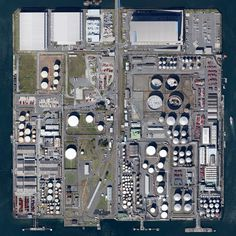 Yokohama, Japan #earth #industrial #satellite #japan