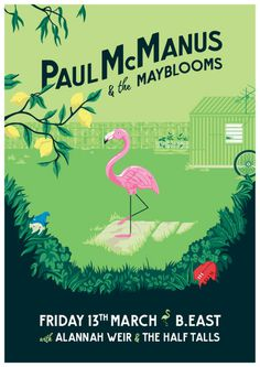 Paul McManus & the Mayblooms - Gig Poster