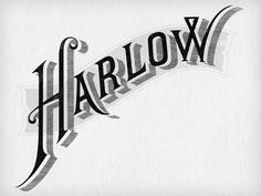 Dribbble - Harlow & Fox by Jennifer Lucey-Brzoza #swash #logo #lettering