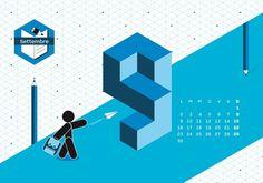 Calendario Algoritmo 2013 by o-zone , via Behance