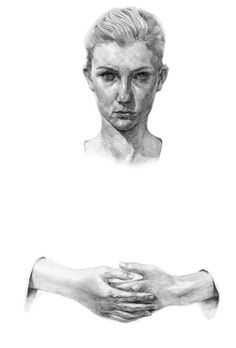 Artist Illustrator Maximillian Quy #white #woman #hands #black #illustration #portrait #art #and #drawing #sketch