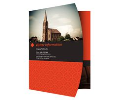 Happy Church Visitor Folder Packet & Card Template #packet #happy #business #card #church #psd #presentation #folders #template #visitor #folder