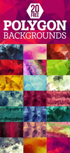 20 free polygon backgrounds #free #polygon #background