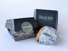 Twibfy #sandwich #pattern #packaging #typography #box #black #simple #bread #green