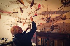 The ships that sail through the clouds | A R T N A U #ships #toys #flight #mobiles #paper