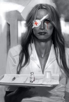 Portraits Inspired by Great Films by Massimo Carnevale - Wall to Watch #fatale #nurse #hannah #bill #driver #blonde #tarantino #kill #film #femme #daryl #poison