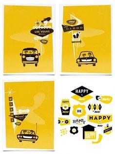 JesseKaczmarek_3.jpg 600×800 pixels #modern #mcm #illustration #mid #poster #century #typography