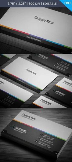Free Minimalist Grey Business Card Template