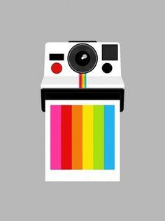 Andrew Harlow , Instant Rainbow by Yumalum #camera #rainbow