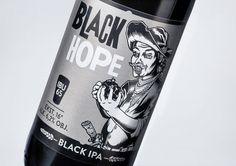 AleBrowar Black Hope #beer #bottle #label #packaging