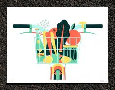 Artcrank 2013 Oscar Morris – Design & Illustration #bike #vegetables #poster