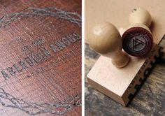 Aberdeen Angus Re-Brand #stamp #laser #clipboard #engrave