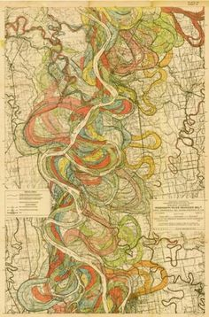 you shall love your crooked neighbor #maps #cartography #river #mississippi