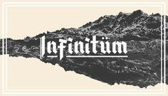 Infinitüm #font #type #typeface