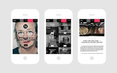 ALU Mind — Mobile. Design by Sans Colour. #iphone #web