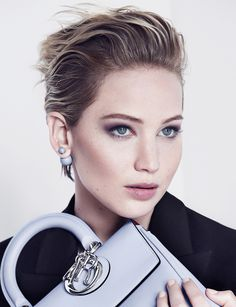 Jennifer Lawrence, photographed by Patrick Demarchelier for Be Dior, A/W 2014. #fashion #photography