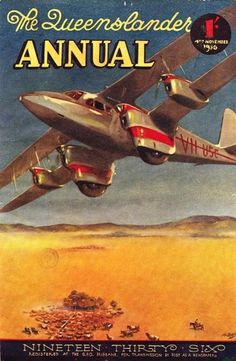 All sizes | Illustrated front cover from The Queenslander annual, November 4, 1936 | Flickr - Photo Sharing! #drawings #queensland #newspaper #illustration #outback #periodical #aeroplanes