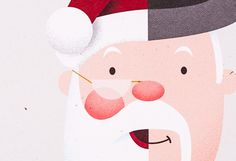 Company Christmas Card #claus #santa #infographic #illustrator #simple #christmas #holiday #character
