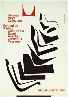 MoMA | The Collection | Armin Hofmann. Herman Miller Collection, Möbel unserer Zeit. 1962 #design #swiss #hoffman #armin