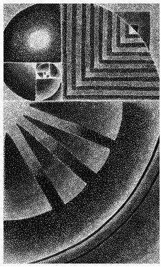 Fibonacci #illustration #stipple #pen and ink #fibonacci